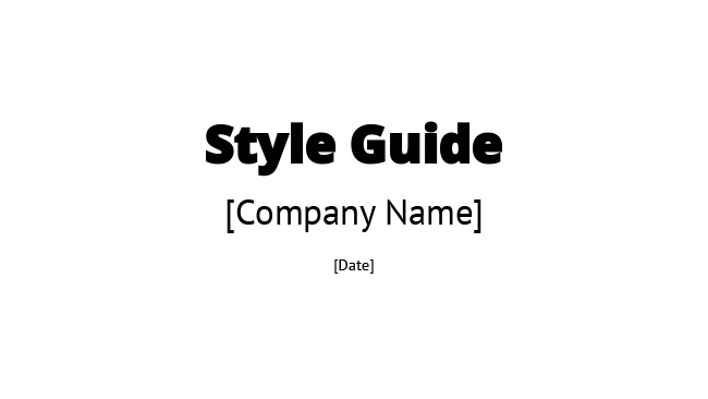 Style Guide Template-download